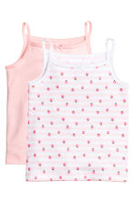2-pack tops - White/Strawberries - Kids | H&M 1